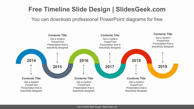 Snake-shaped-semicircular-ring-PowerPoint-Diagram-Template feature image