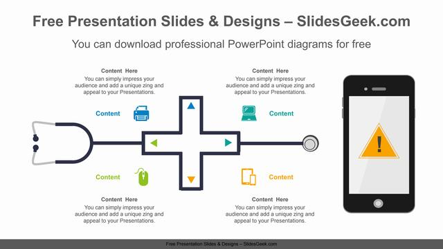 Stethoscope-Radial-PowerPoint-Diagram feature image