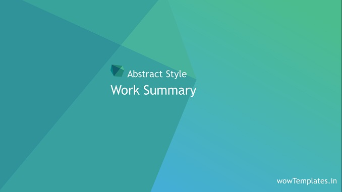 Abstract Style Work Summary Presentation Template_PowerPoint _ Feature Image