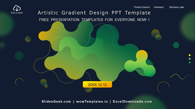 Artistic-Gradient-powerpoint-template-feature image